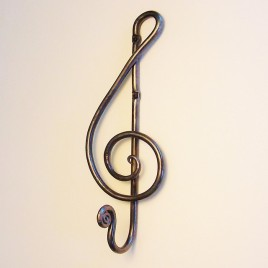 Forged Treble Clef Hook