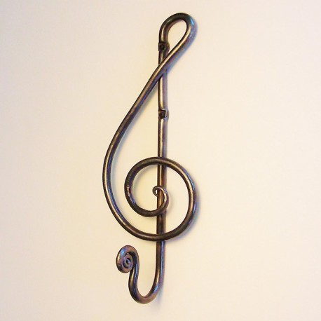 Forged Treble Clef Hook 1