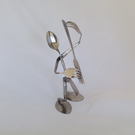 Silverware Guitar Player Spoon Art