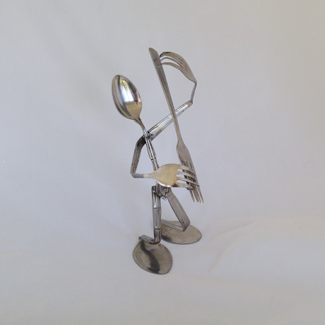 Silverware Guitar Player Spoon Art 1