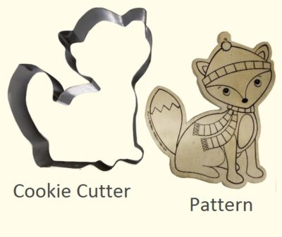 Hand Made Cookie Cutter Fox