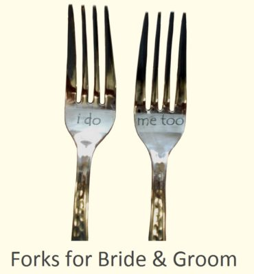Wedding Forks Etched