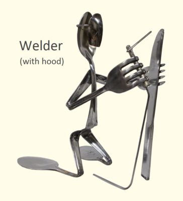 Welder Silverware Figurine