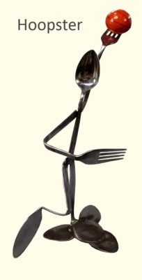 Hoopster Silverware Figurine